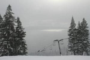 Homewood ski view of Tahoe